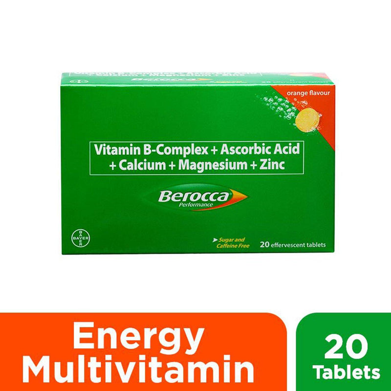 Berocca Orange Energy Vitamins Effervescent Tablets - 20s