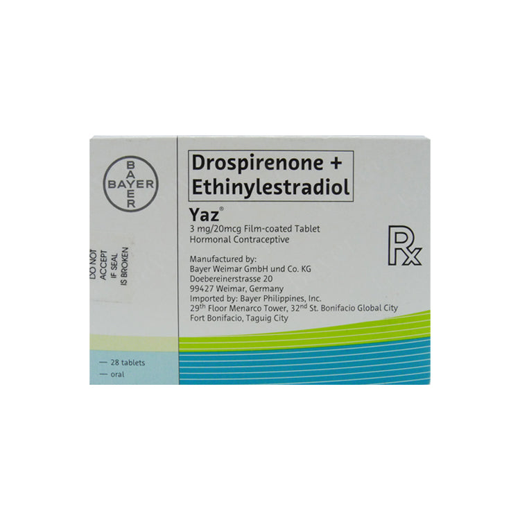 Rx: Yaz 3 mg / 0.02 mg Tablet
