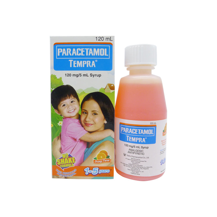 Tempra 1 - 5 years old Orange Flavor 120 mg / 5 ml 120 ml Syrup