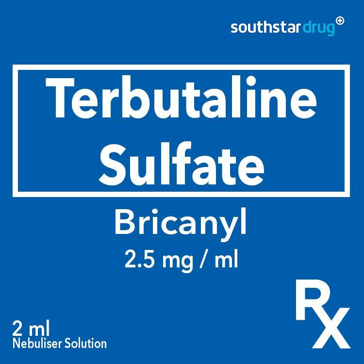 Rx: Bricanyl 2.5 mg / ml 2 ml Nebuliser Solution - Southstar Drug