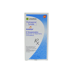 Rx: Avamys 27.5 mcg 60 actuation Nasal Spray