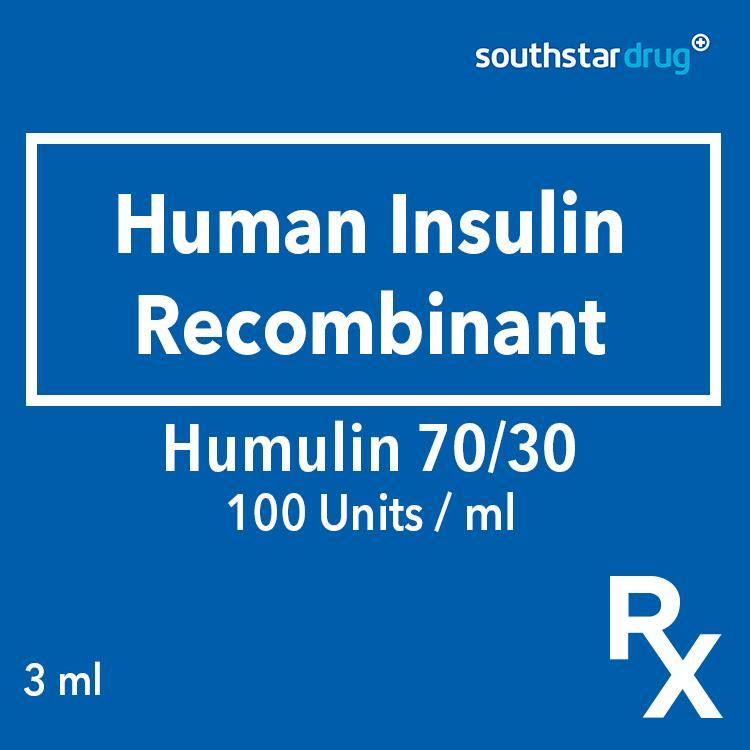 Rx: Humulin 70/30 100 Units / ml 3 ml