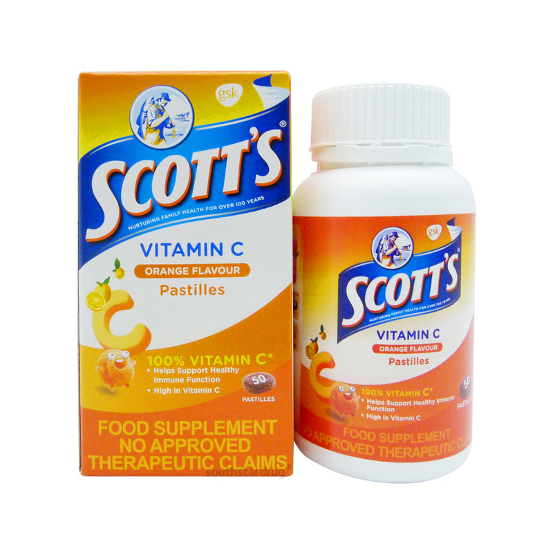 Scotts Vitamin - C Orange 50 Pastilles