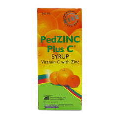 Pedzinc Plus C Syrup 240 ml