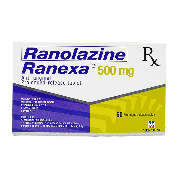 Rx: Ranexa 500 mg Tablet