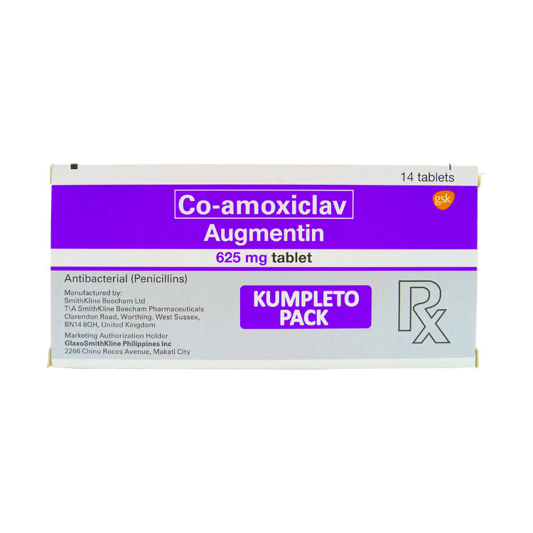 Rx: Augmentin 625 mg Kumpleto Pack Tablet