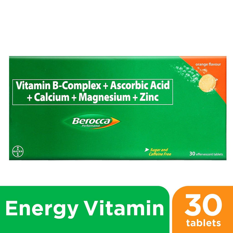 Berocca Orange Energy Vitamins Effervescent Tablets - 30s