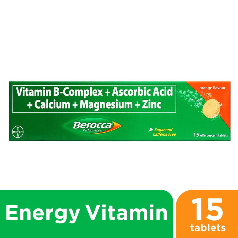Berocca Orange Energy Vitamins Effervescent Tablets - 15s