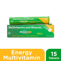 Berocca Mango Orange Energy Vitamins Effervescent Tablets - 15s