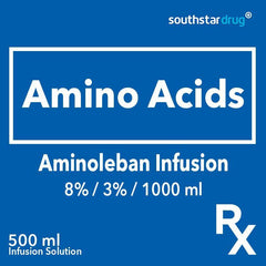 Rx: Aminoleban 8% / 3% / 1000 ml 500 ml Infusion Solution - Southstar Drug