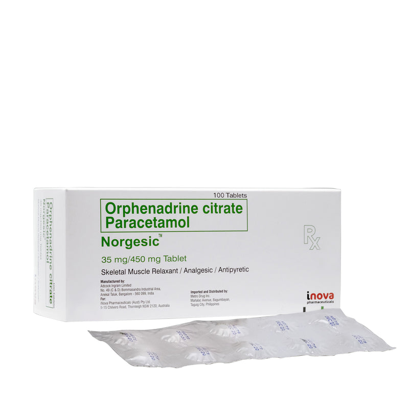 Rx: Norgesic 35 mg / 450 mg Tablet