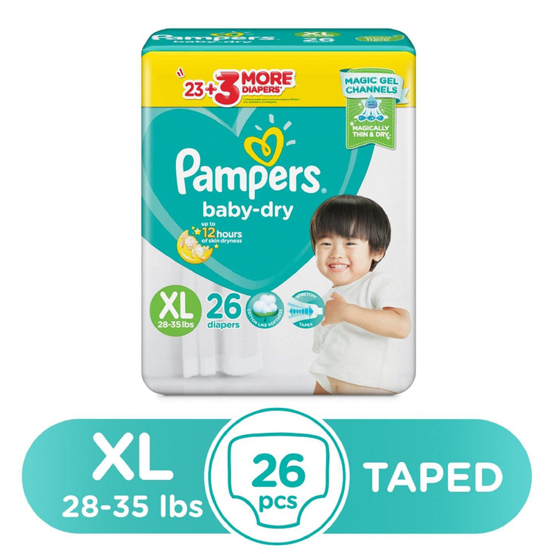 Pampers Baby Dry Taped Diapers XL - 26s