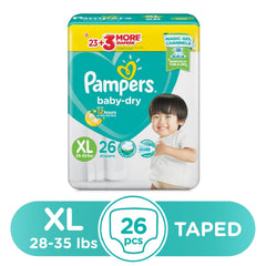 Pampers Baby Dry Taped Diapers XL - 26s - Southstar Drug