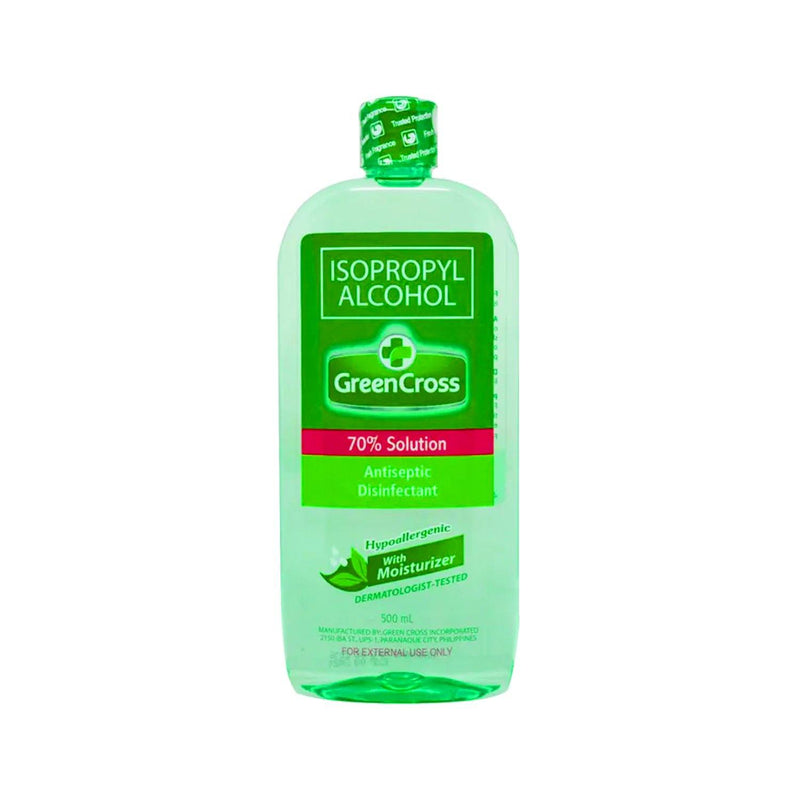 Green Cross with Moisturizer 70% Isopropyl Alcohol 500 ml