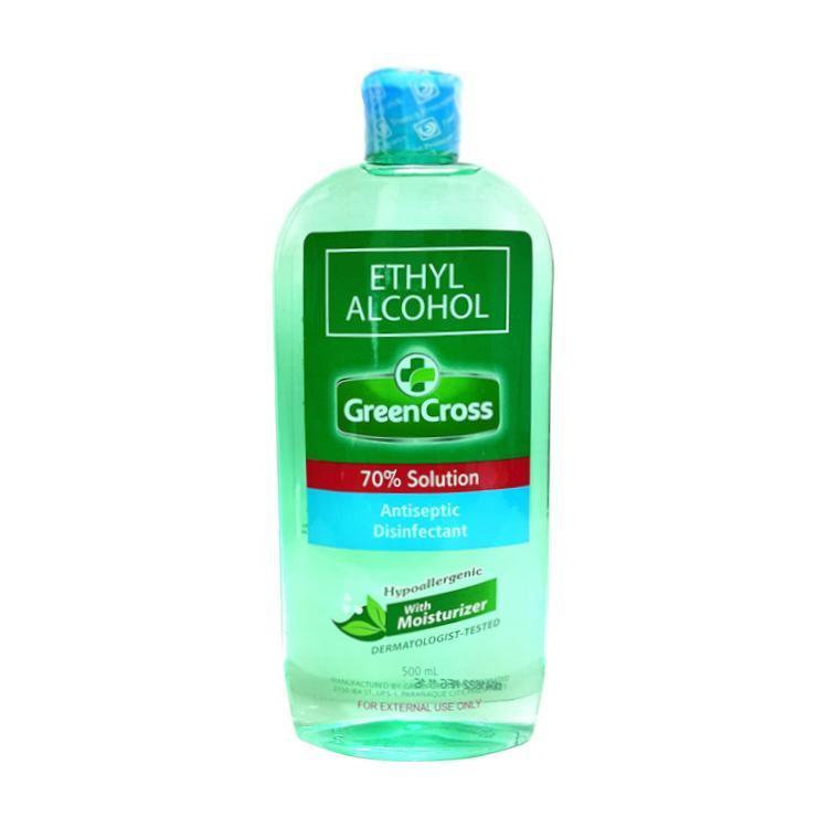 Green Cross with Moisturizer 70% Ethyl Alcohol 500 ml