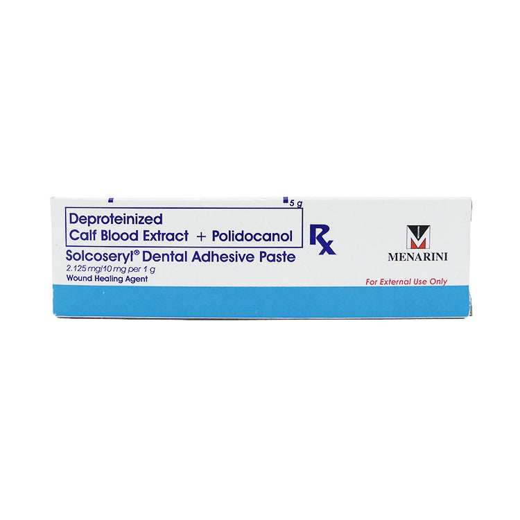 Rx: Solcoseryl Dental Adhesive 2.125 mg / 10 mg / g 5 g Paste