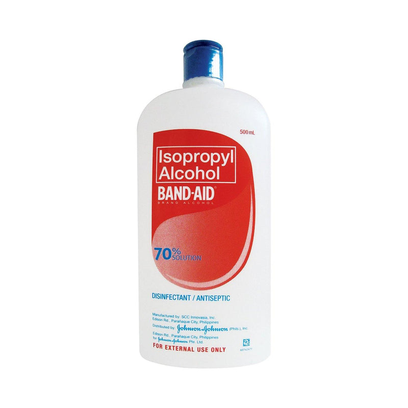 Band Aid Non - Drying 60% Cleansing Solution 500 ml Alcohol