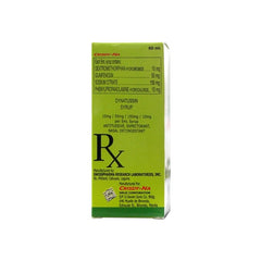 Rx: Dynatussin 250 mg 60 ml Syrup