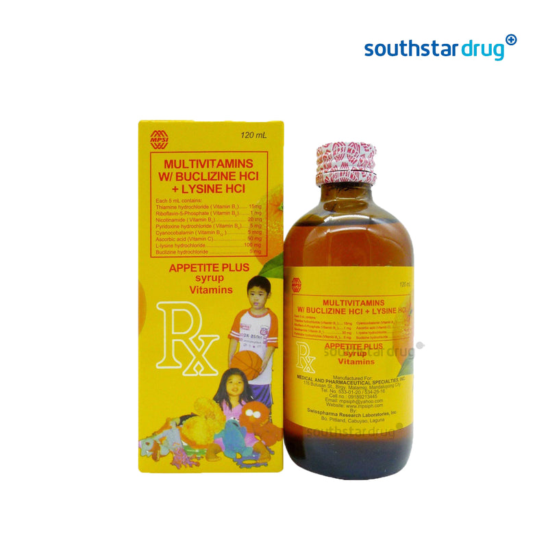Appetite Plus 120 ml Syrup