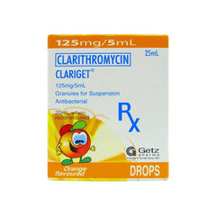 Rx: Clariget 125 mg / 5 ml 25 ml Granules for Suspension