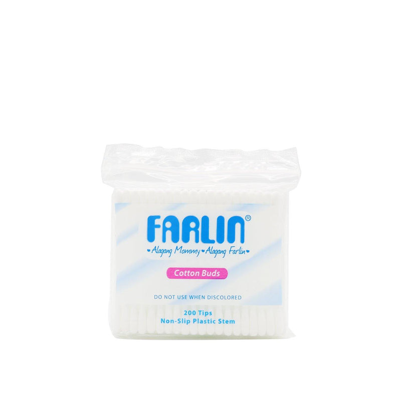 Farlin Cotton Buds Plastic White 200 Tips