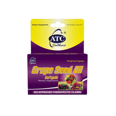 ATC Grape Seed 500 mg Soft Gel Capsule - 30s