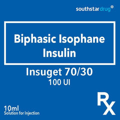 Rx: Insuget 70/30 100 IU Solution for Injection 10 ml