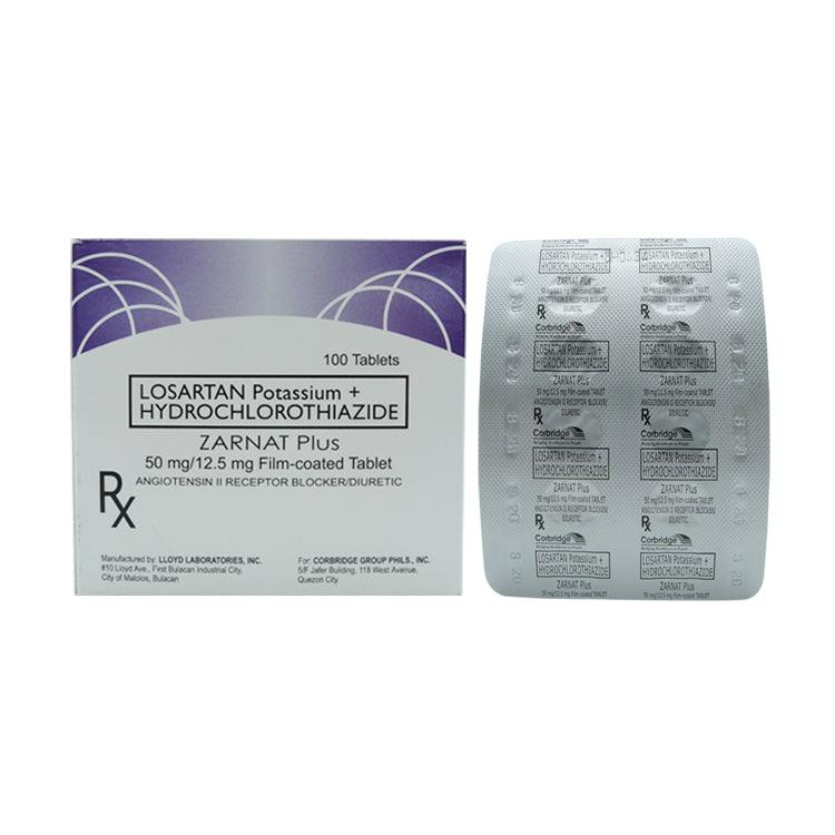 Rx: Zarnat Plus 50 mg / 12.5 mg Tablet