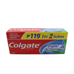 Colgate Triple Action 95 ml Tube Toothpaste - 2s