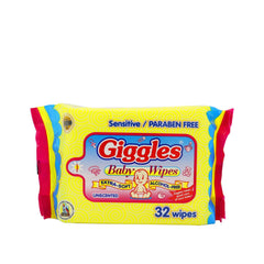 Giggles Unscented Baby Wipes - 32s
