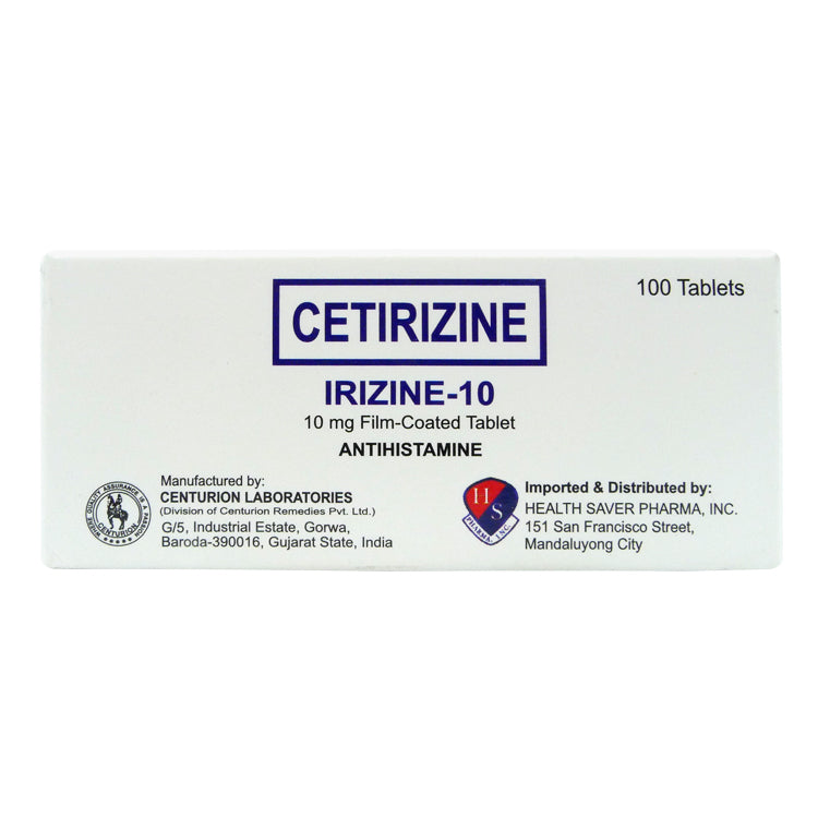 Irizine 10 mg Tablet - 20s