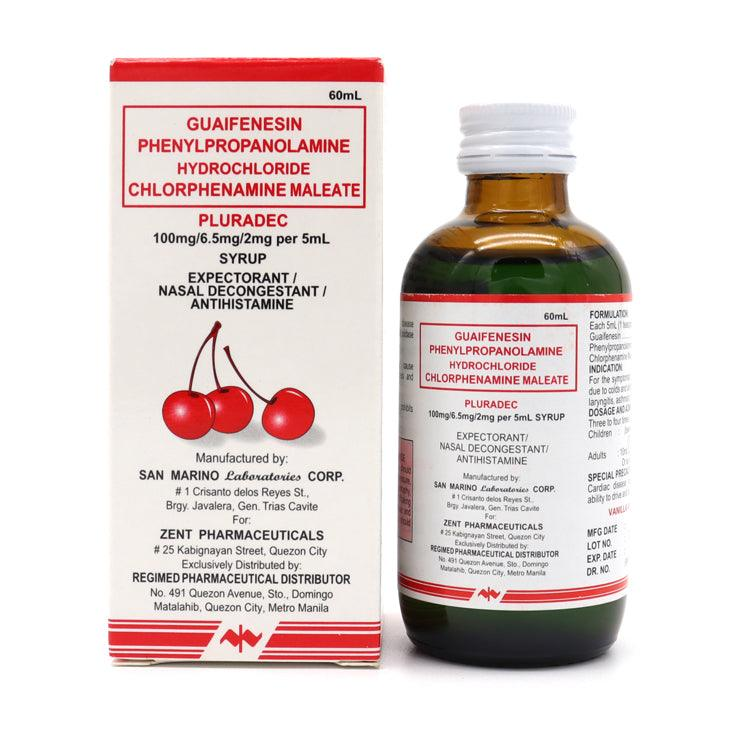Pluradec 100 mg / 6.2 mg / 2 mg 60 ml Syrup