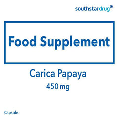 Carica Papaya 450 mg Capsule - 30s