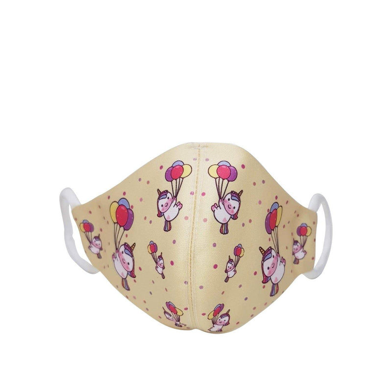 Erin Apparel Kids Yellow Unicorn Face Mask