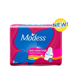 Modess Body Adapt Longs With Wings Napkin - 8s