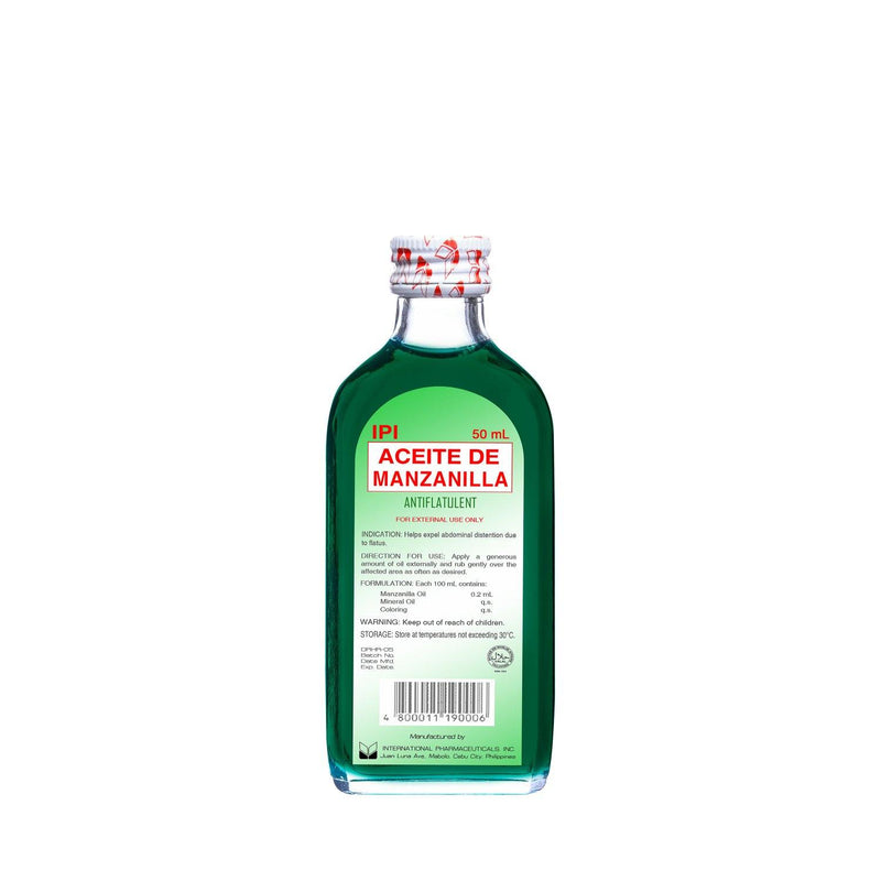 Ipi Aceite De Manzanilla Solution 50 ml - Southstar Drug