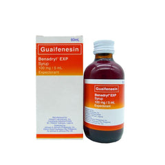 Benadryl EXP 100 mg / ml 60 ml Syrup