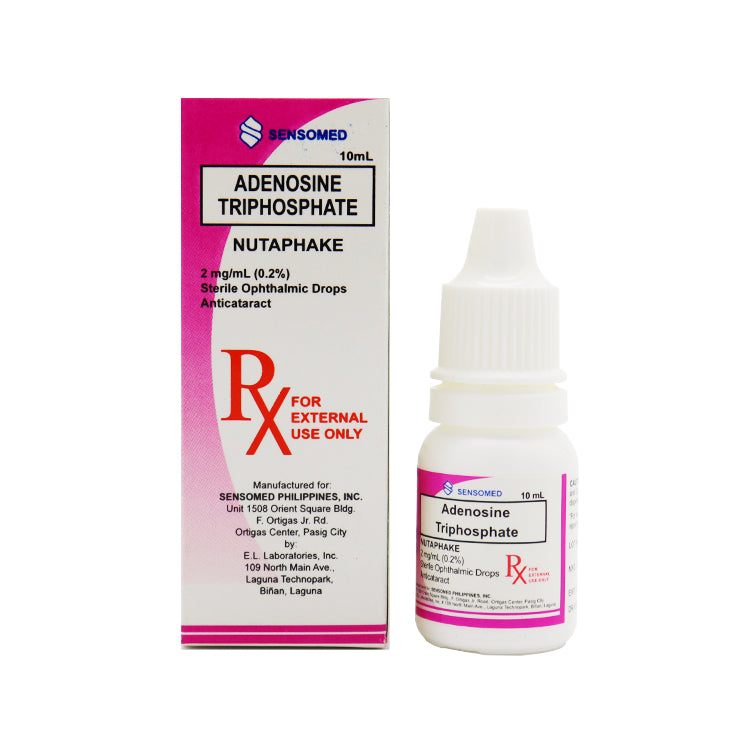 Rx: Nutaphake 2 mg / ml (0.2%) 10 ml Ophthalmic Drops