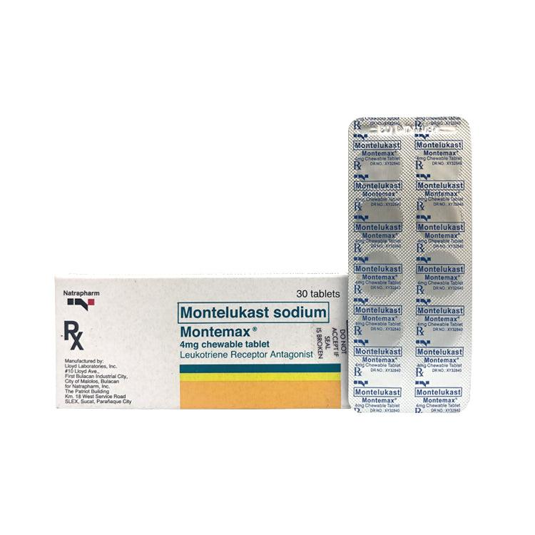Rx: Montemax 4 mg Tablet