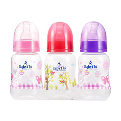 Babyflo Feeding Bottle Assorted 4 Oz