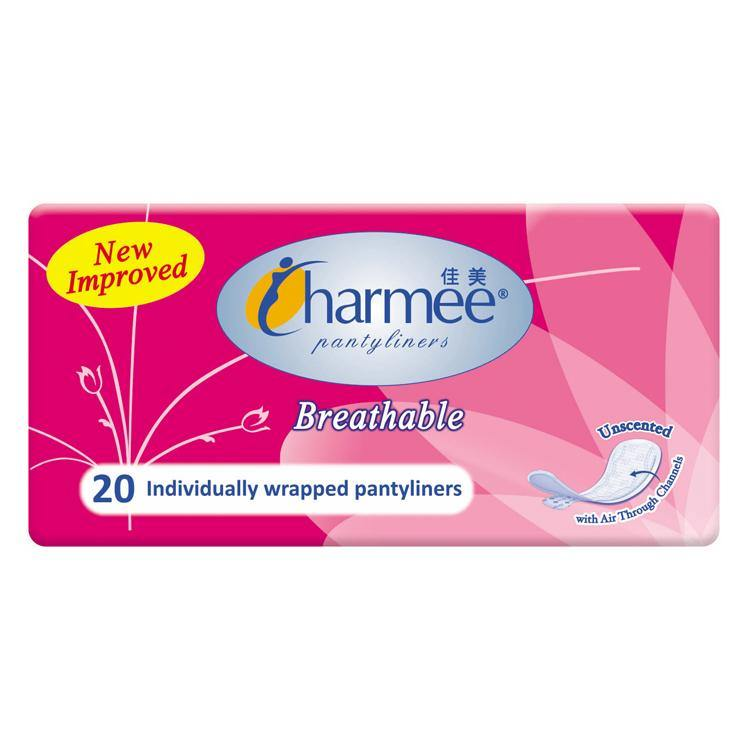 Charmee Breathable Unsented Panty Liner - 20s