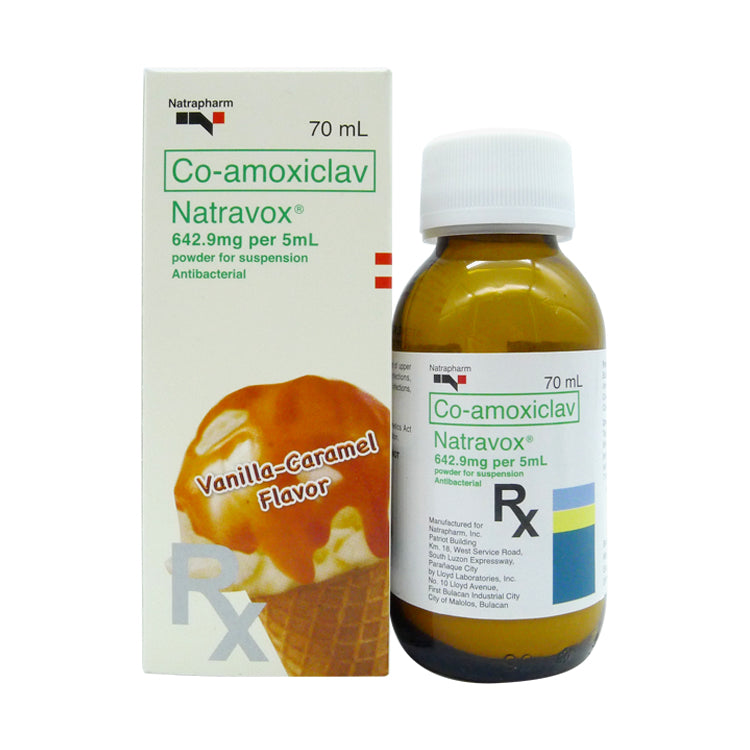 Rx: Natravox 642.9 mg / 5 ml 70 ml Suspension