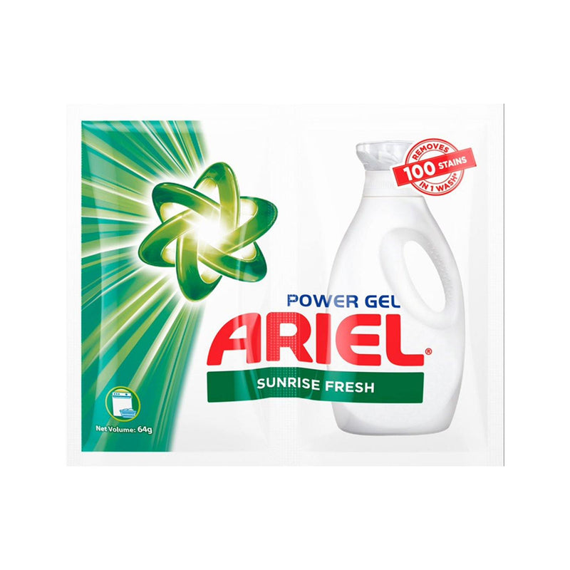 Ariel Power Gel Sunrise Fresh Liquid Detergent 64 g - 6s