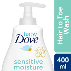 Baby Dove Hair To Toe Wash Sensitive Moisture 400 ml