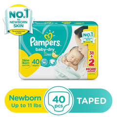 Pampers Baby Dry Newborn Diaper 40s - Southstar Drug