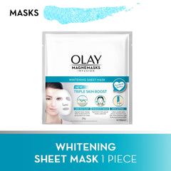 Olay Skin Magnemasks Infusion Whitening Sheet Mask 24 g