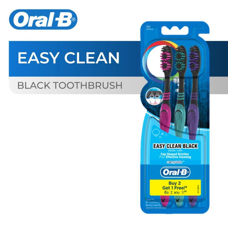 Oral B Easy Clean Black Buy 2 take 1 Toothbrush