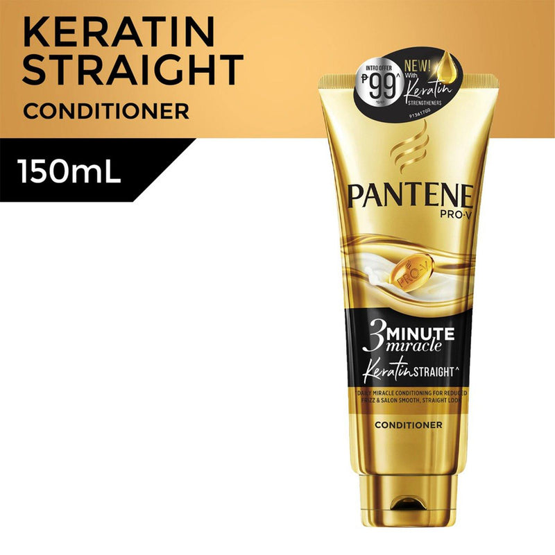 Pantene 3-Minute Miracle Keratin Straight Intensive Conditioner 150 ml