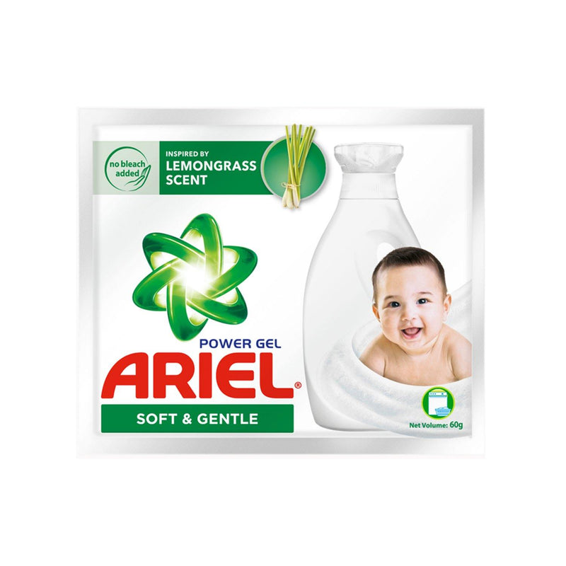 Ariel Power Gel Soft & Gentle Liquid Detergent 60 g - 6s