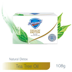 Safeguard Detox Face and Body Bar Tea Tree 108 g